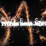 Eine Feuerwerk. Frohes neues Jahr!