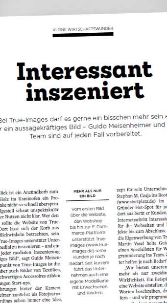 Interview & Artikel - 'Kleines Wirtschaftswunder' (Mittelpunkt Magazin)