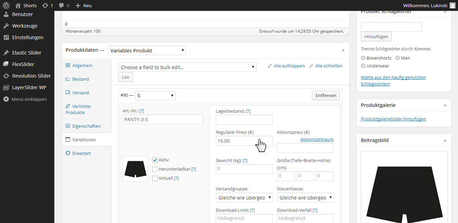 WooCommerce Anleitung - Einfache & variable Produkte