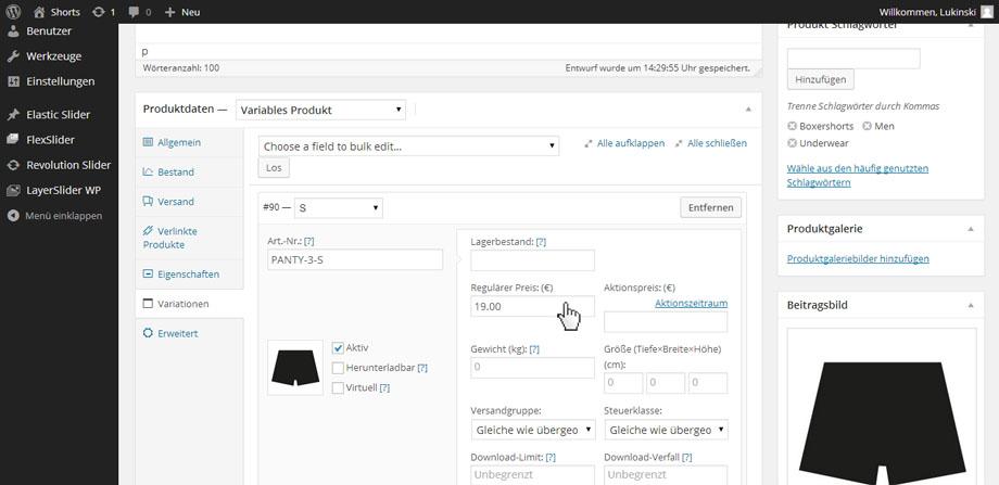WooCommerce Anleitung - Einfache & variable Produkte