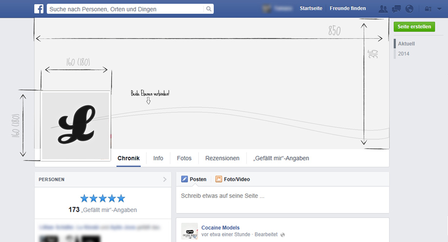 Create Facebook Fanpage - Photoshop Template | Lukinski Cologne