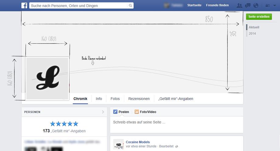 Facebook Fanpage gestalten - Photoshop Vorlage   Lukinski Köln