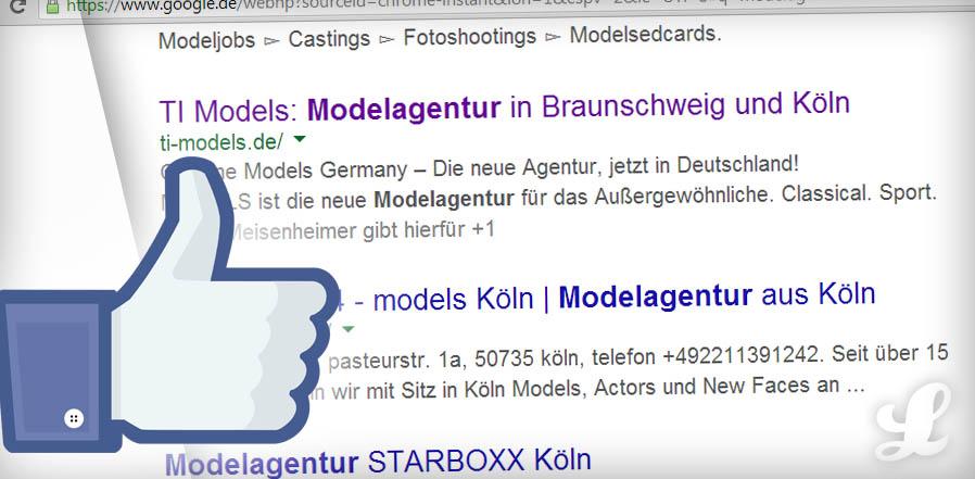 Modelagentur auf Seite 1 (Google Ranking) | Lukinski