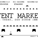 Space Invaders Collage zum Thema Content Marketing