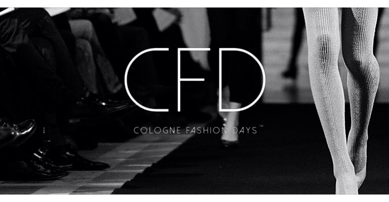 Logo-Banner des Cologne Fashion Days 2014