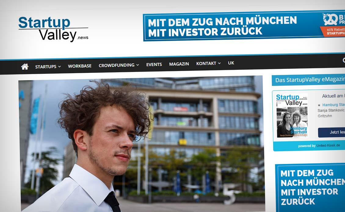 Interview im Startup Valley Magazin (Berlin) über Cocaine Models