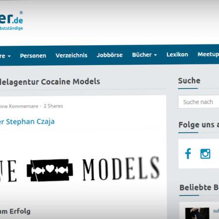 Erfolgreich Startups gründen! Cocaine Models im Portrait auf Gruender.de