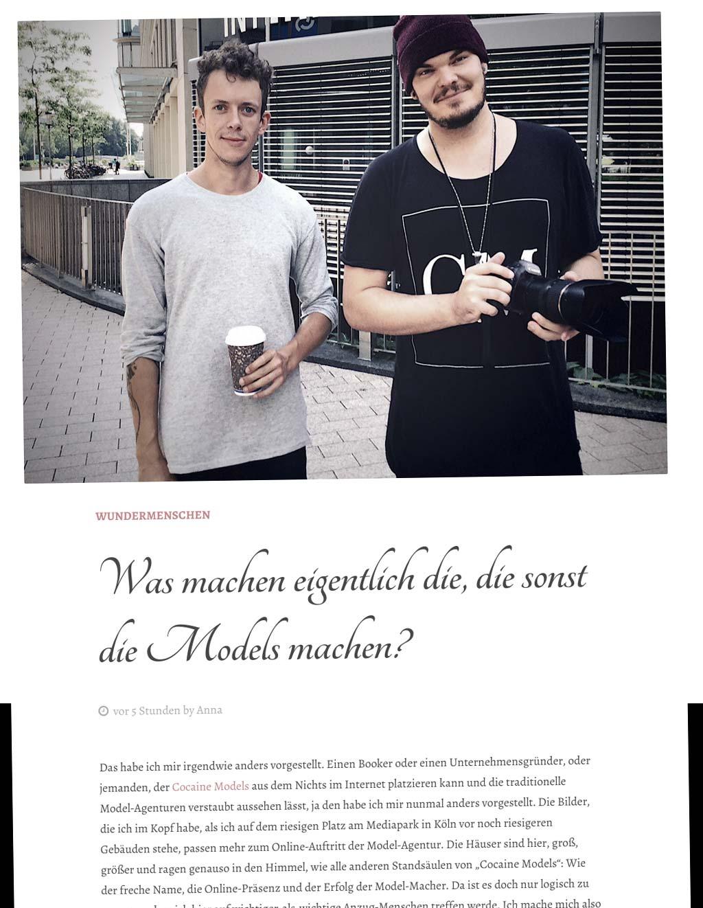 Wundermenschen (Blog) im Interview mit Stephan Czaja und Oliver Rudolph