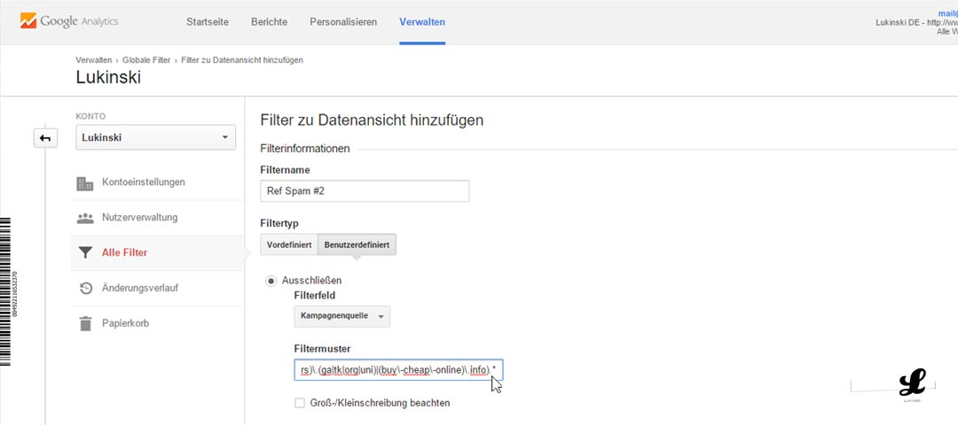 referral-spam-google-anayltics-neuer-filter-entfernen-blockieren-ausschliessen-02-einstellungen-einrichtung