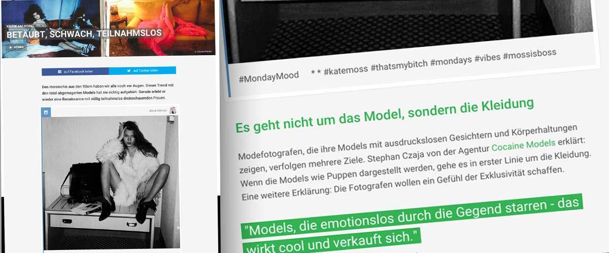 Interview im Deutschlandradio Wissen: Kritik am Model-Trend