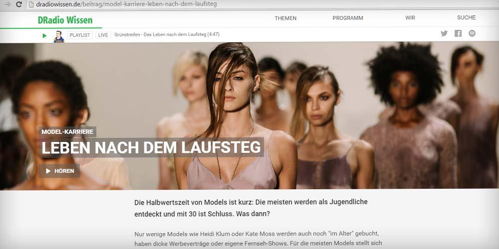 """Interview: """"Models nach dem Laufsteg"""" bei DRadio Wissen"""