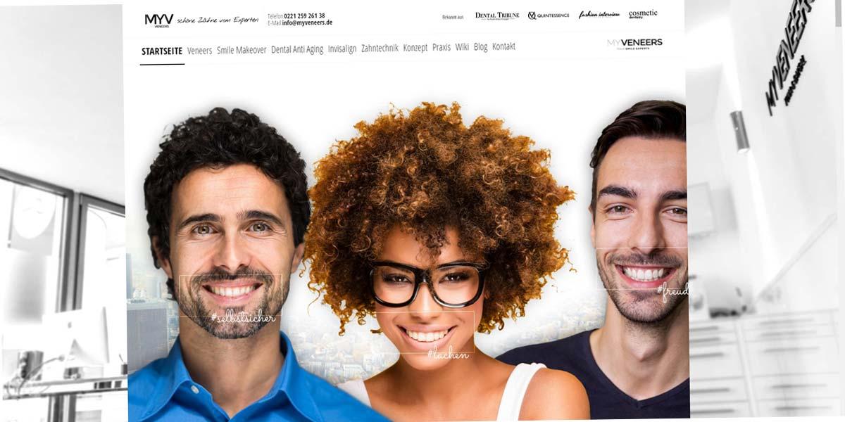 Veneers: Schöne Zähne vom Experten - Webdesign