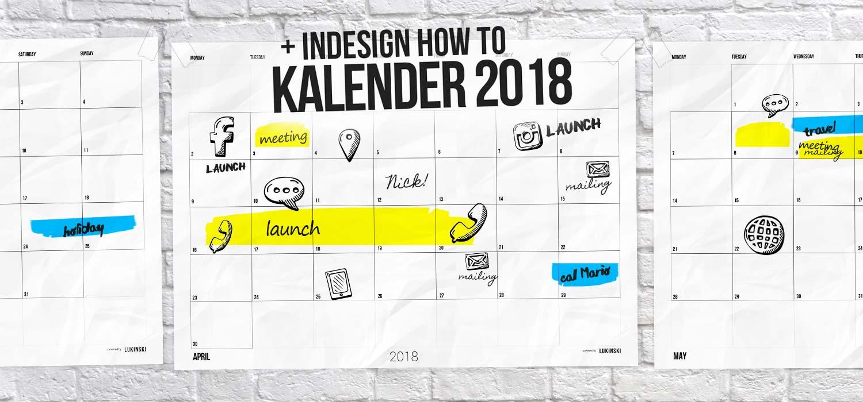 Kalender 2018 zum ausdrucken: PDF Monatskalender kostenlos + HowTo