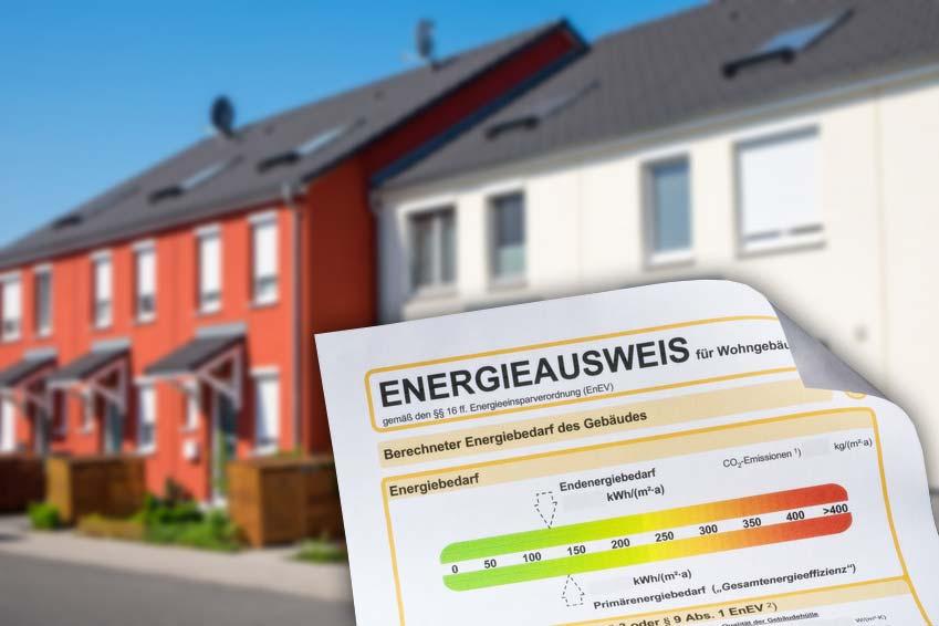 Gebäudeenergiepass einer Immobilie