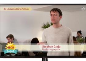 Ryanair Tattoo und dessen Marketing Effekt – Sat1 Frühstücksfernsehen