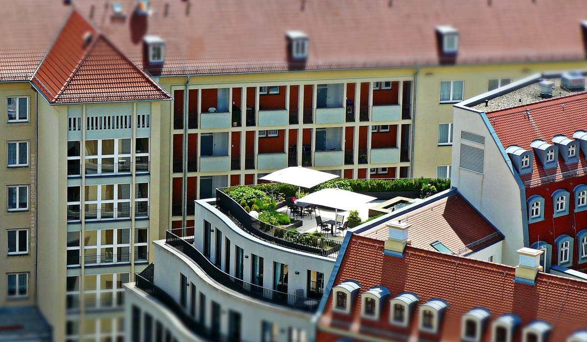 Dachterrasse - Bauen, begrünen & auf Englisch