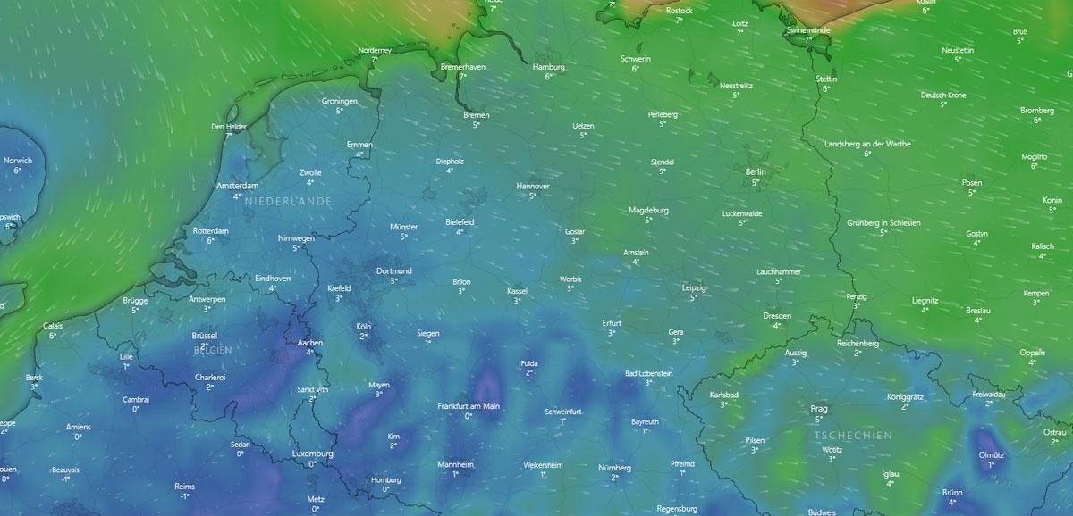 Wetter in Münster: Hausbau, Wind, Temperatur und Feuchtigkeit