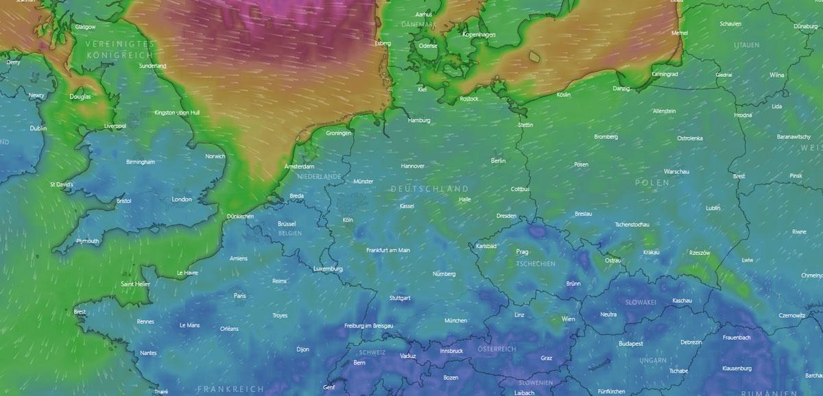 Wetter in Essen: Baustelle, Sonnenstunden, Nebel und Temperatur